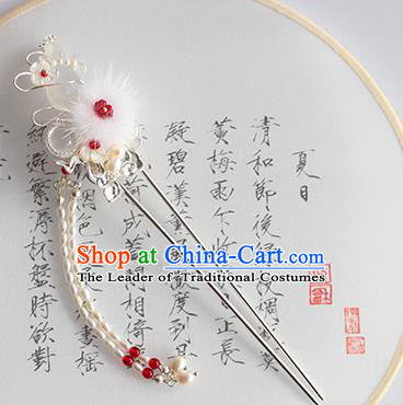 Chinese Ancient Handmade Classical Pearls Tassel Hair Clip Hair Accessories Hanfu Hairpins for Women
