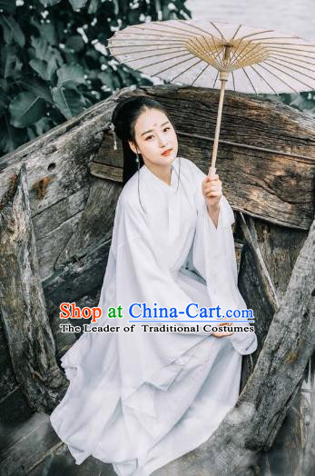 Chinese Ancient Costumes Jin Dynasty Swordswoman Hanfu Dress Clothing for Women