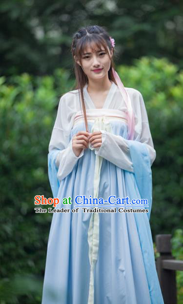 Chinese Ancient Young Lady Hanfu Dress Tang Dynasty Princess Costumes for Women