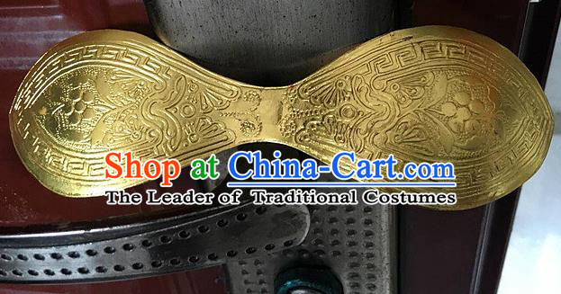 Traditional Chinese Miao Nationality Golden Hair Stick Hanfu Hairpins Hair Accessories for Women