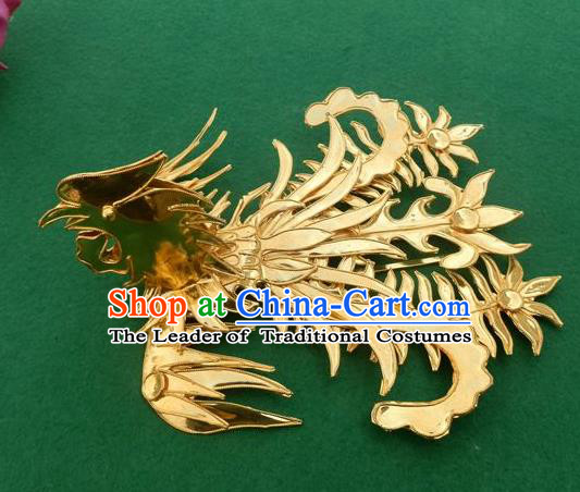 Traditional Chinese Miao Nationality Phoenix Hair Stick Hairpins Hair Accessories for Women