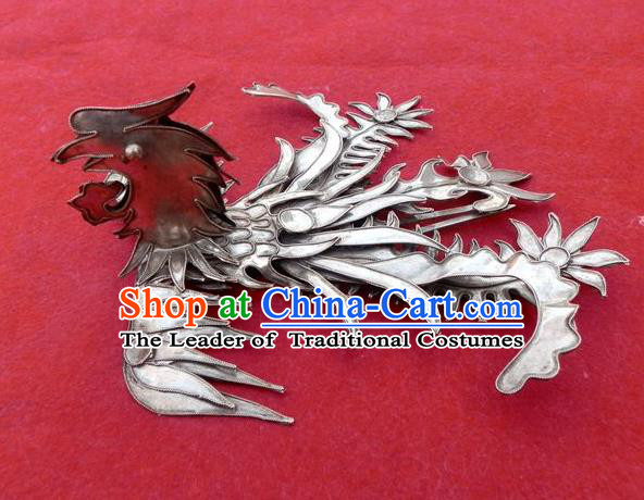 Traditional Chinese Miao Nationality Hair Stick Phoenix Hairpins Hair Accessories for Women