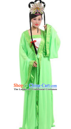 Traditional Chinese Ancient Fairy Costume Song Dynasty Madam Green Snake Historical Clothing and Headpiece Complete Set