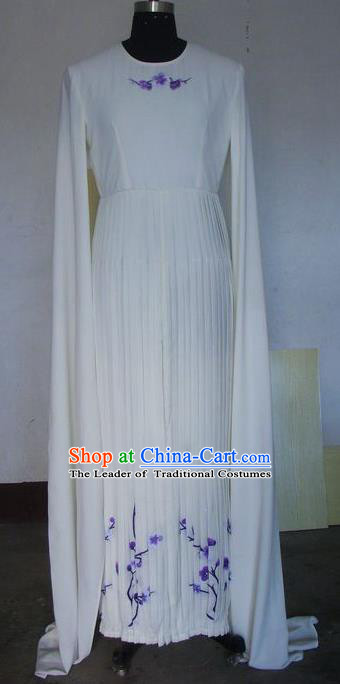 Chinese Traditional Beijing Opera Young Lady Costumes China Peking Opera Diva White Dress for Adults