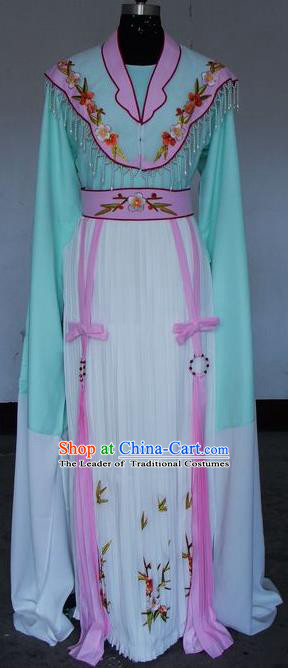 Chinese Traditional Beijing Opera Actress Costumes China Peking Opera Embroidered Water Sleeve Dress for Adults