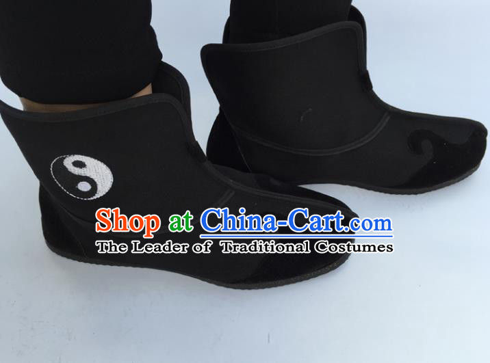 Chinese Traditional Martial Arts Black Boots Taoist Shoes Tai Chi Shoes for Men