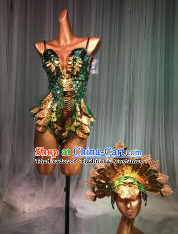 Top Grade Pub Singer Stage Performance Customized Costume Halloween Models Catwalks Clothing for Women