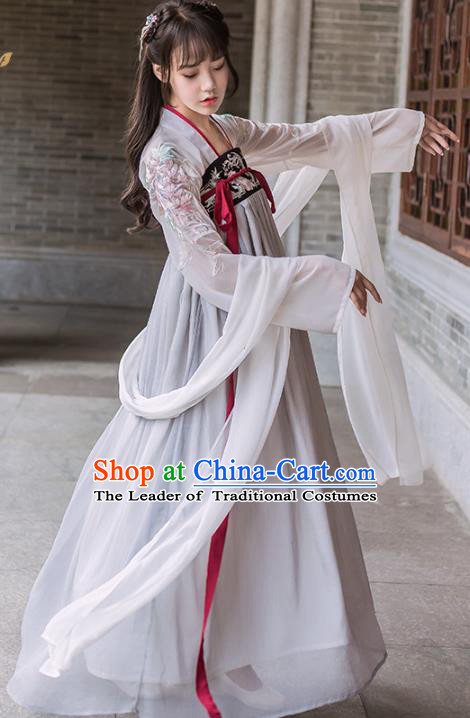 Chinese Traditional Tang Dynasty Nobility Lady Costumes Ancient Peri Hanfu Dress for Women