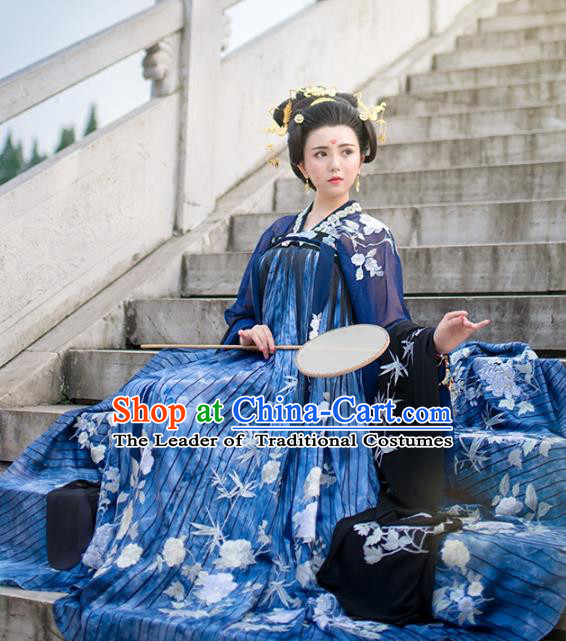 Chinese Tang Dynasty Imperial Consort Costume Ancient Peri Hanfu Dress for Women