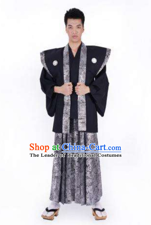 Broad Shoulders Japanese Authentic Samurai Outfit Clothing Complete Set for Men