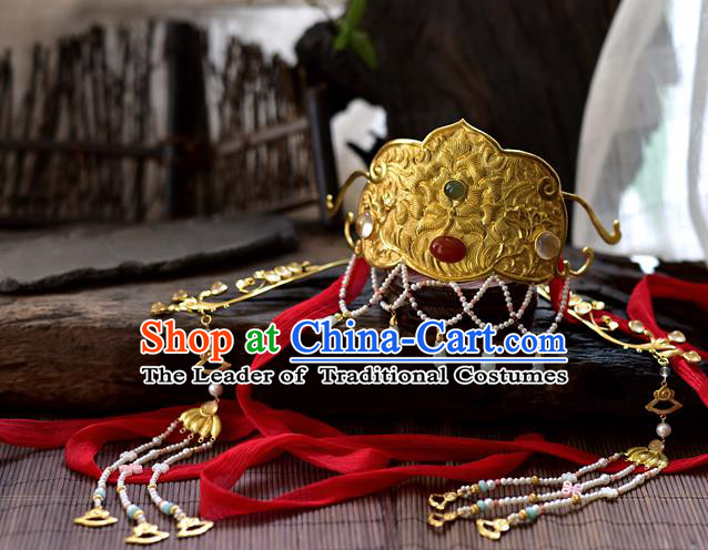 Chinese Traditional Hair Accessories Phoenix Coronet Ancient Empress Hairpins Headwear for Women