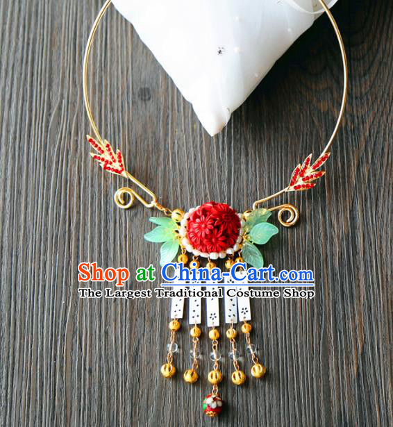 Top Grade Wedding Bride Jewelry Accessories Chinese Hanfu Necklace for Women