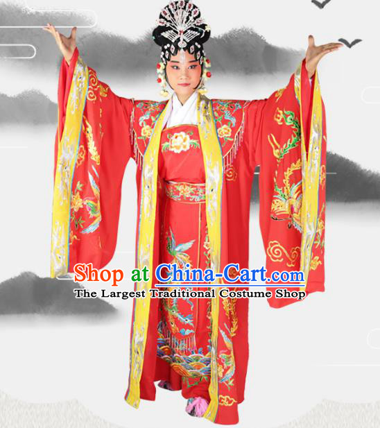 Professional Chinese Beijing Opera Diva Embroidered Costumes Peking Opera Queen Clothing for Adults