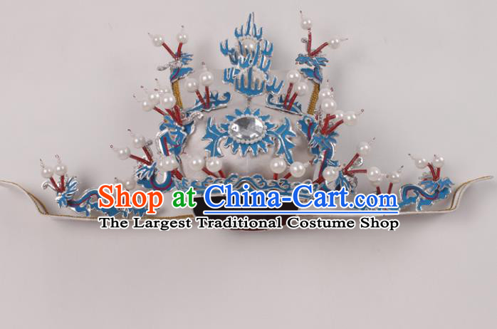 Top Grade Chinese Beijing Opera Prime Minister Headwear Peking Opera Hat for Men