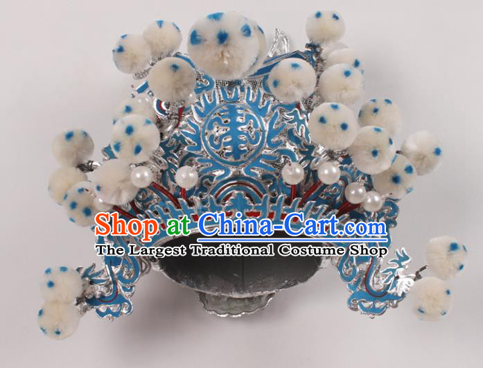 Top Grade Chinese Beijing Opera Takefu Headwear Peking Opera General Hat for Men