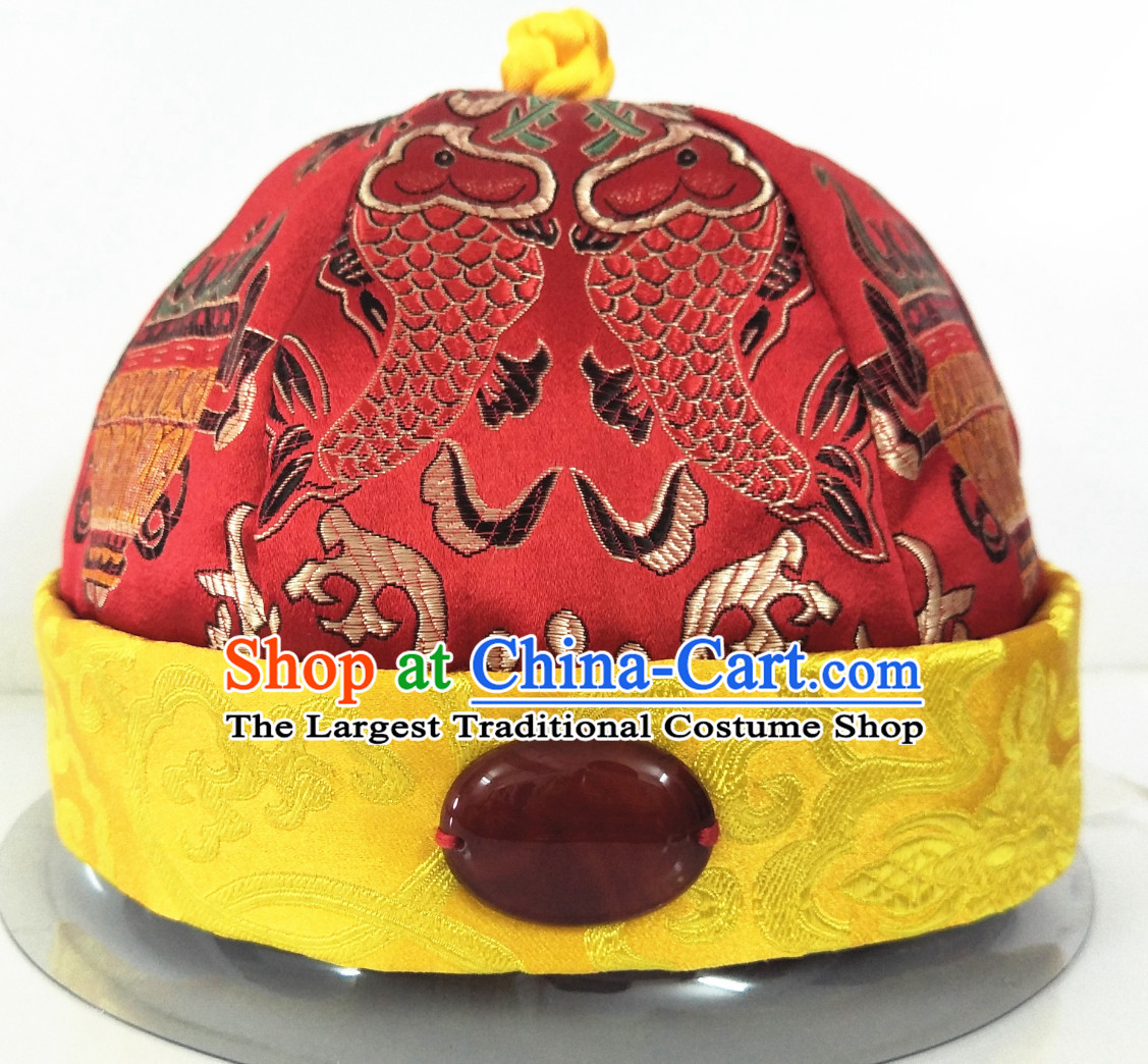 Chinese Ancient Style Handmade Qing Dynasty Official Hat for Sale