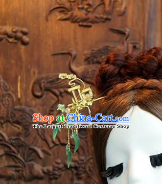 Chinese Handmade Ancient Hair Accessories Ancient Hanfu Hair Clip Tassel Hairpins for Women