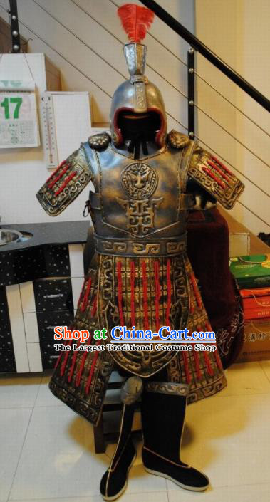 Top Grade Chinese Handmade Ancient Armor Warrior Helmet and Armour for Men