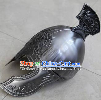 Ancient Cosplay Roman General Iron Helmet Hat for Men
