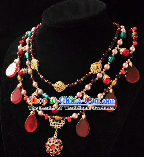 Chinese Traditional Jewelry Accessories Ancient Hanfu Necklace for Women