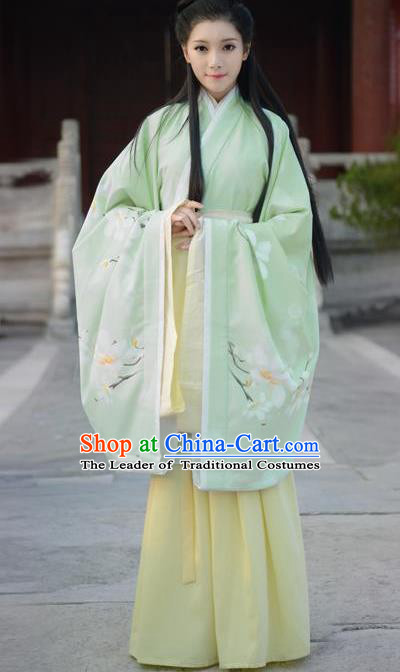 Chinese Han Dynasty Princess Hanfu Dress Ancient Fairy Palace Lady Embroidered Costumes for Women