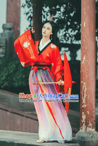 Chinese Jin Dynasty Palace Princess Hanfu Dress Ancient Fairy Costume for Women