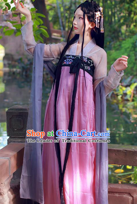 Chinese Ancient Fairy Hanfu Dress Tang Dynasty Imperial Concubine Embroidered Hanfu Clothing for Women