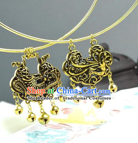 Chinese Traditional Ancient Longevity Lock Accessories Hanfu Necklace for Women