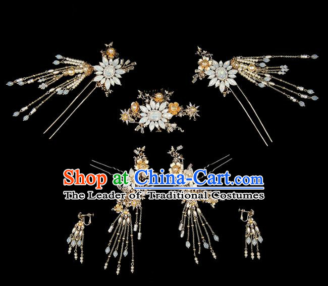 Chinese Traditional Wedding Hair Accessories Bride Hairpins Hair Stick Headwear for Women