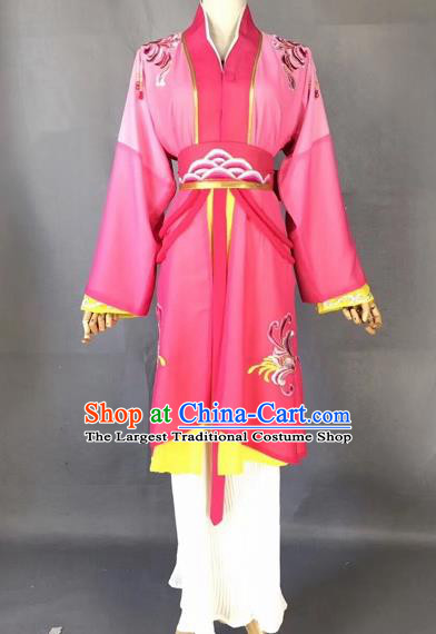 Chinese Traditional Beijing Opera Maidservant Rosy Dress Peking Opera Diva Costumes for Adults