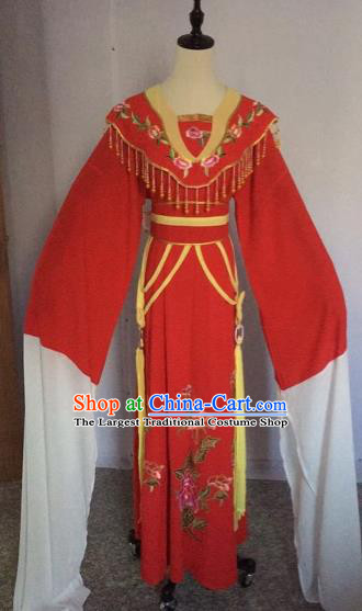Chinese Traditional Beijing Opera Nobility Lady Red Dress Peking Opera Diva Costumes for Adults