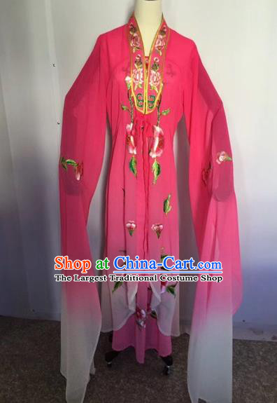 Chinese Traditional Peking Opera Palace Lady Rosy Dress Beijing Opera Diva Costumes for Adults
