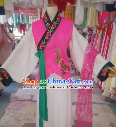 Chinese Traditional Beijing Opera Maid Clothing Peking Opera Diva Costumes for Adults
