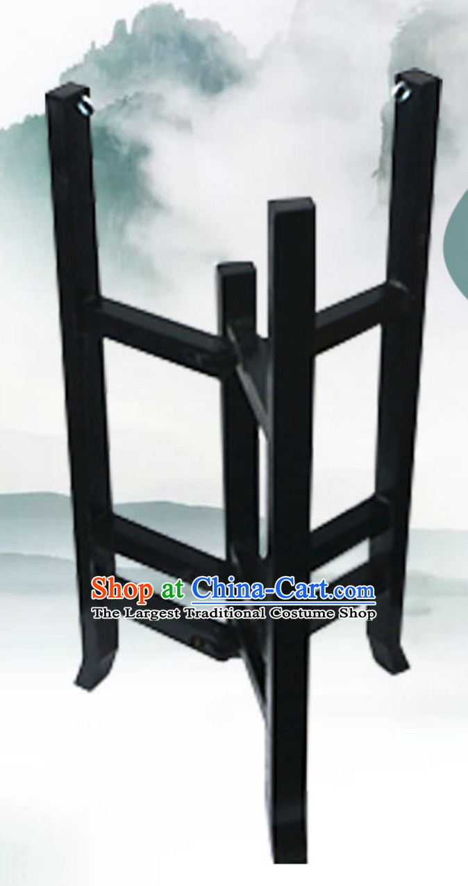 Traditional Handmade Chinese Classical Wooden Drum Cart Drum Stand Drum Accessories for Performance
