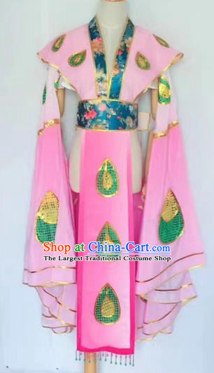 Chinese Peking Opera Butterfly Lovers Pink Dress Traditional Beijing Opera Young Lady Embroidered Costumes for Adults