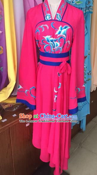 Traditional Chinese Peking Opera Diva Costume Beijing Opera Rosy Dress for Adults