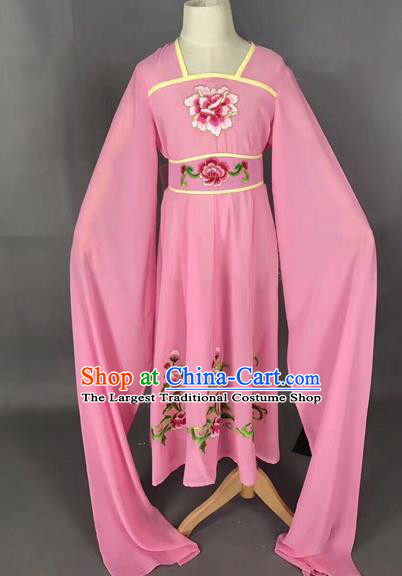 Traditional Chinese Peking Opera Diva Costume Beijing Opera Pink Dress for Kids