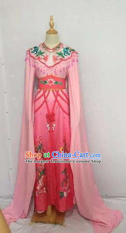 Traditional Chinese Peking Opera Rich Lady Costume Beijing Opera Diva Fairy Pink Dress for Adults