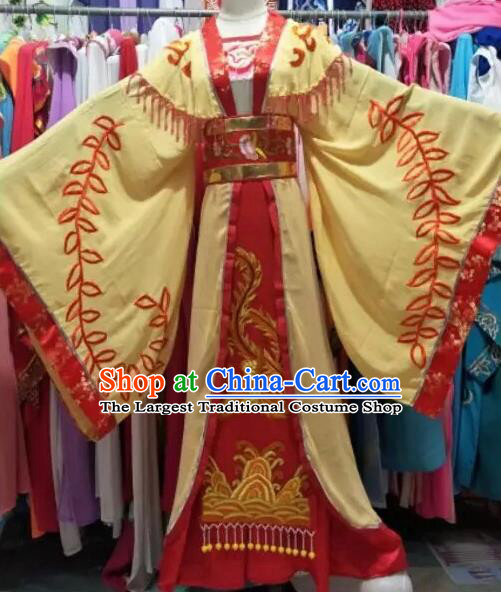 Chinese Shaoxing Opera Palace Queen Embroidered Dress Traditional Beijing Opera Diva Costume for Adults