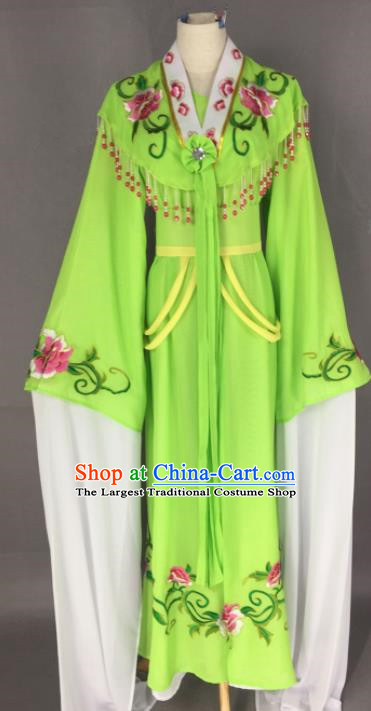 Chinese Ancient Palace Princess Green Dress Traditional Beijing Opera Actress Costume for Adults