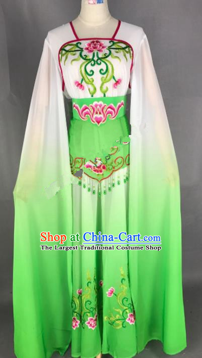 Chinese Ancient Court Maid Green Dress Traditional Beijing Opera Diva Costume for Adults
