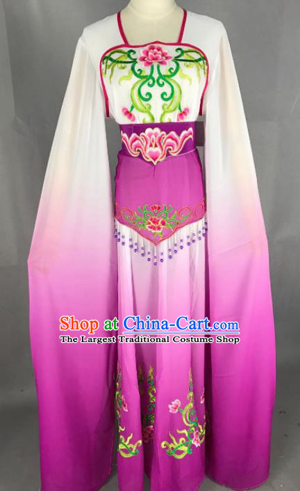 Chinese Ancient Court Maid Purple Dress Traditional Beijing Opera Diva Costume for Adults