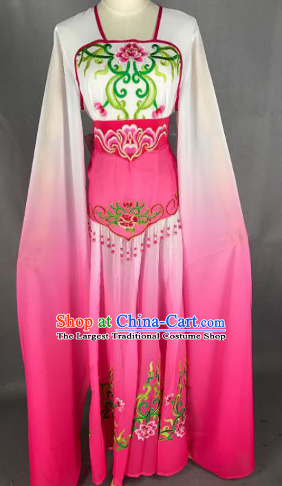 Chinese Ancient Court Maid Pink Dress Traditional Beijing Opera Diva Costume for Adults