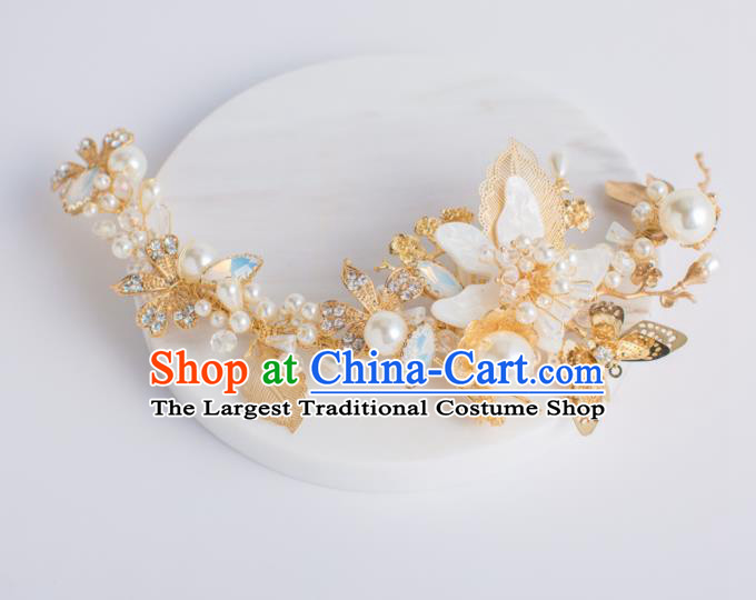 Top Grade Bride Wedding Hair Accessories Shell Flower Hair Sticks for Women