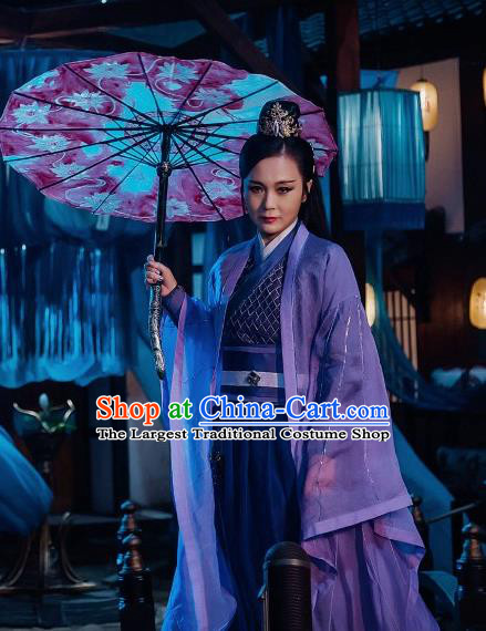 Chinese Ancient Female Assassin Hanfu Dress Ancient Swordswoman Costumes for Women