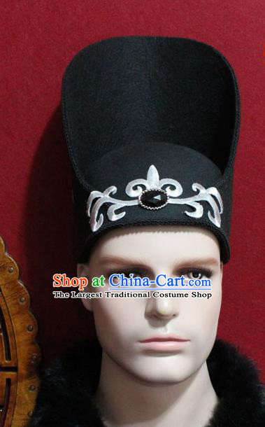 Chinese Traditional Prince Hair Accessories Ancient Tang Dynasty Chancellor Hat for Men