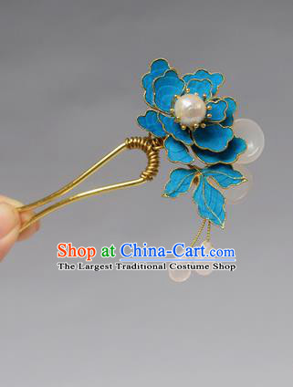 Chinese Ancient Qing Dynasty Palace Tian-Tsui Hair Accessories Handmade Hairpins for Women