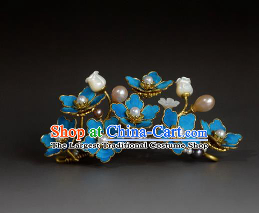 Chinese Handmade Princess Hanfu Hairpins Pearls Hair Stick Ancient Hair Accessories for Women