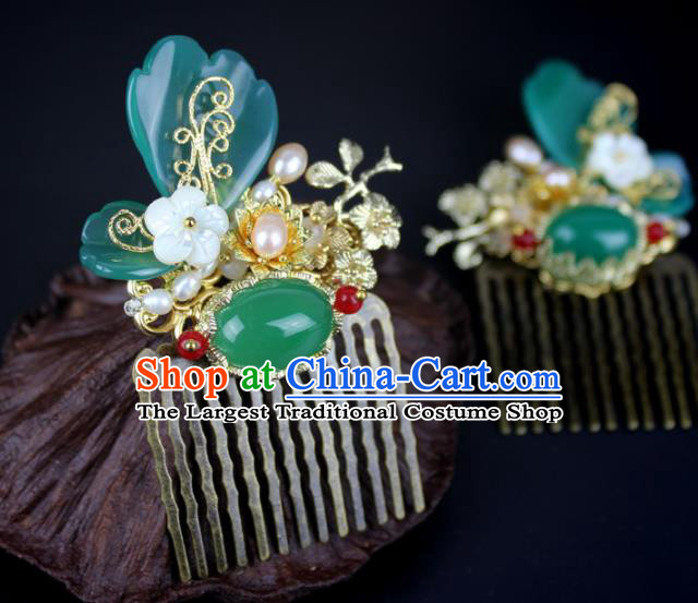 Chinese Ancient Handmade Hanfu Butterfly Hair Comb Hairpins Hair Accessories for Women