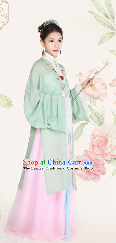 Top Grade Chinese Ancient Palace Lady Costumes Ming Dynasty Princess Hanfu Dress for Women